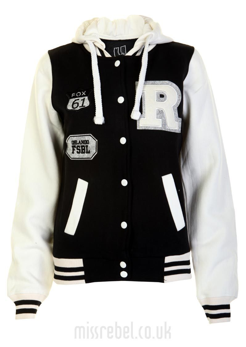 Orlando Baseball Jacket / Black - Womens Clothes, Ladies Clothes ...