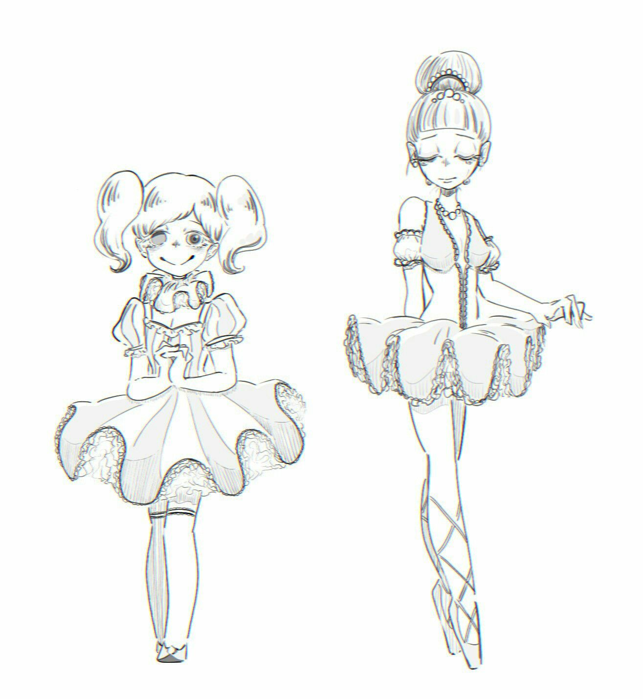 Ballora And Baby So Cute Fnaf Drawings Anime Fnaf Fnaf Art