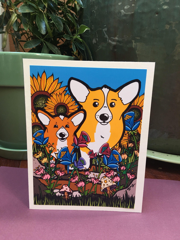 Handmade Welsh Corgi Card Set for Any Occasion Corgi Greeting Card Set