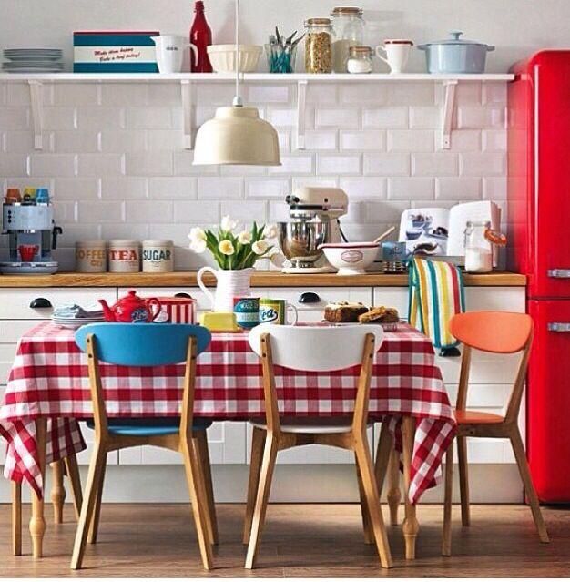 Familienküche Küche Deko Pinterest Kitchens, Interiors and - küche vintage look