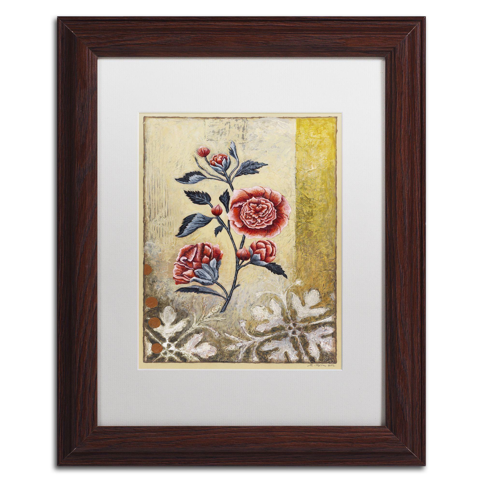 Trademark Rachel Paxton 'Halifax Flora' Matted Framed Art