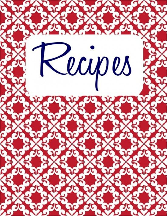 Recipe Cover Page Template | 26. Recipe Binder {Free Printable