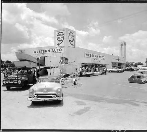 Western Auto And A P Stores 1100 Block Of South Dale Mabry Boulevard Tampa Fla Burgert Brothers Photographic Collect Tampa Detroit Downtown Old Florida