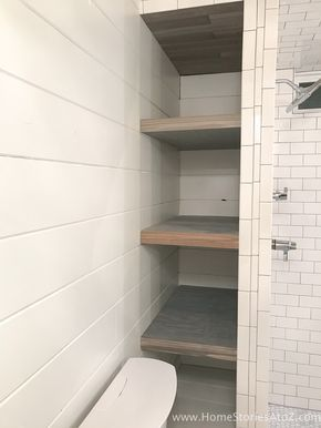 How to Build Bathroom Shelves Next to Shower images