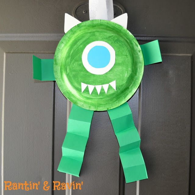 Mike for monster's inc. paper plate craft LINK: http ...