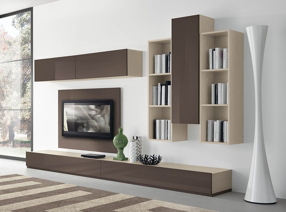 modern italian wall unit vv 3901 in 2020 living room on wall units id=49460