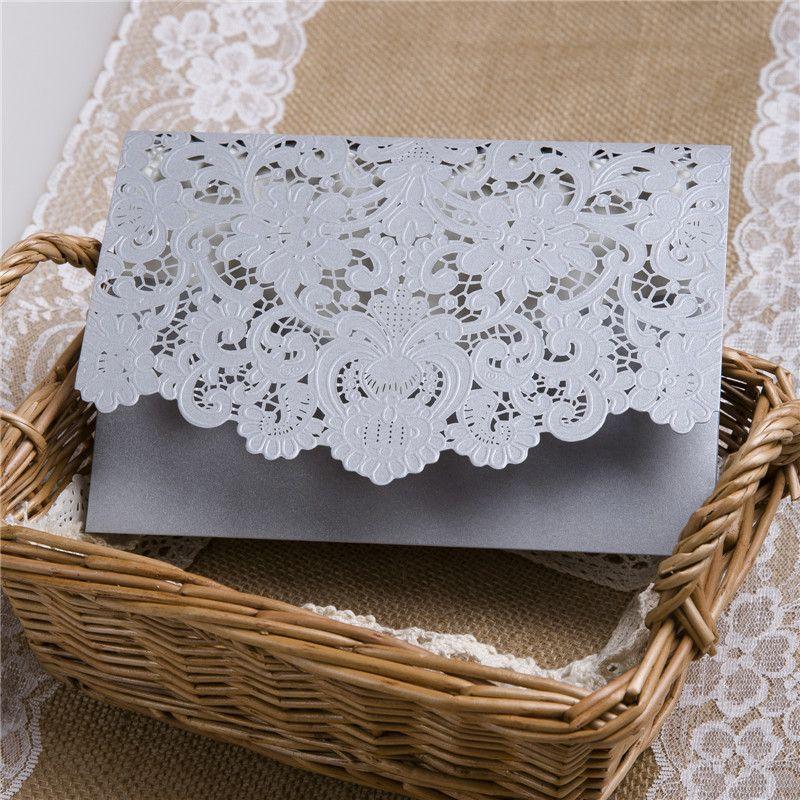 faire part mariage chic et sa pochette de mariage en dentelle d coup e avec laser cup pochette. Black Bedroom Furniture Sets. Home Design Ideas