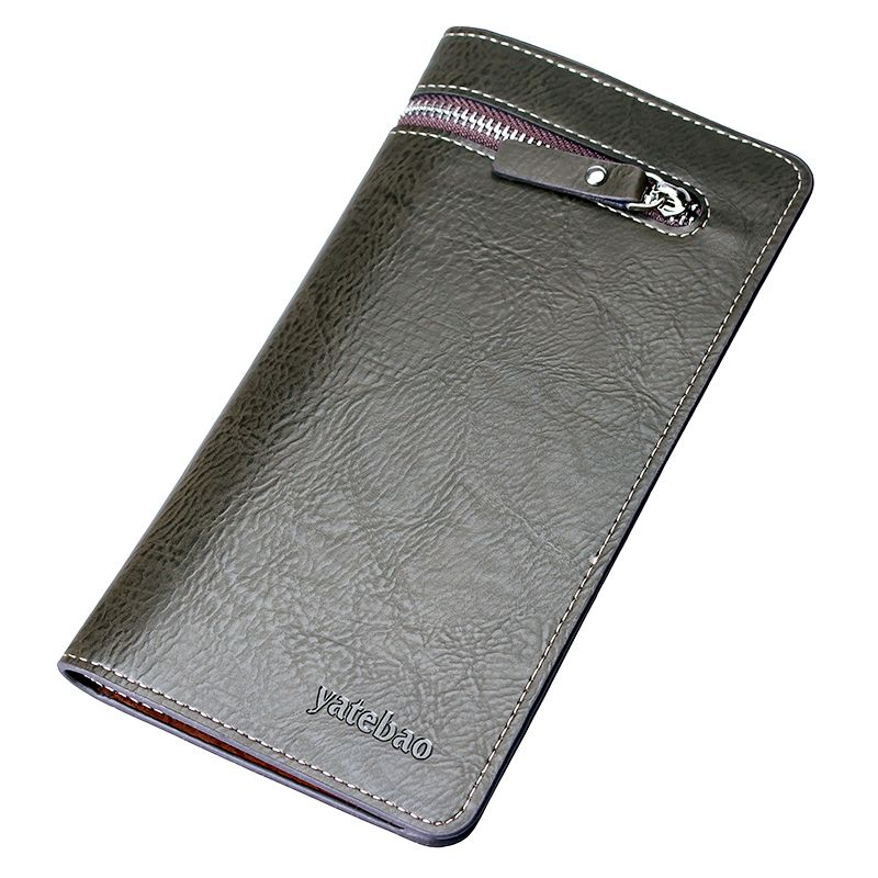 $18.00 (Buy here: http://appdeal.ru/3vfu ) New 2016 men wallet long famous brand leather cion purse vintage designer clutch big size card holder for cellphone casual gift for just $18.00
