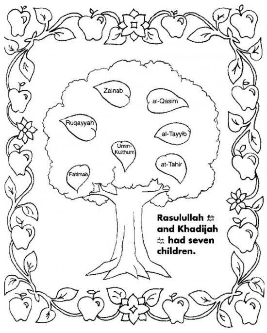 Free Download Family Tree Coloring Page Coloring Pages Family