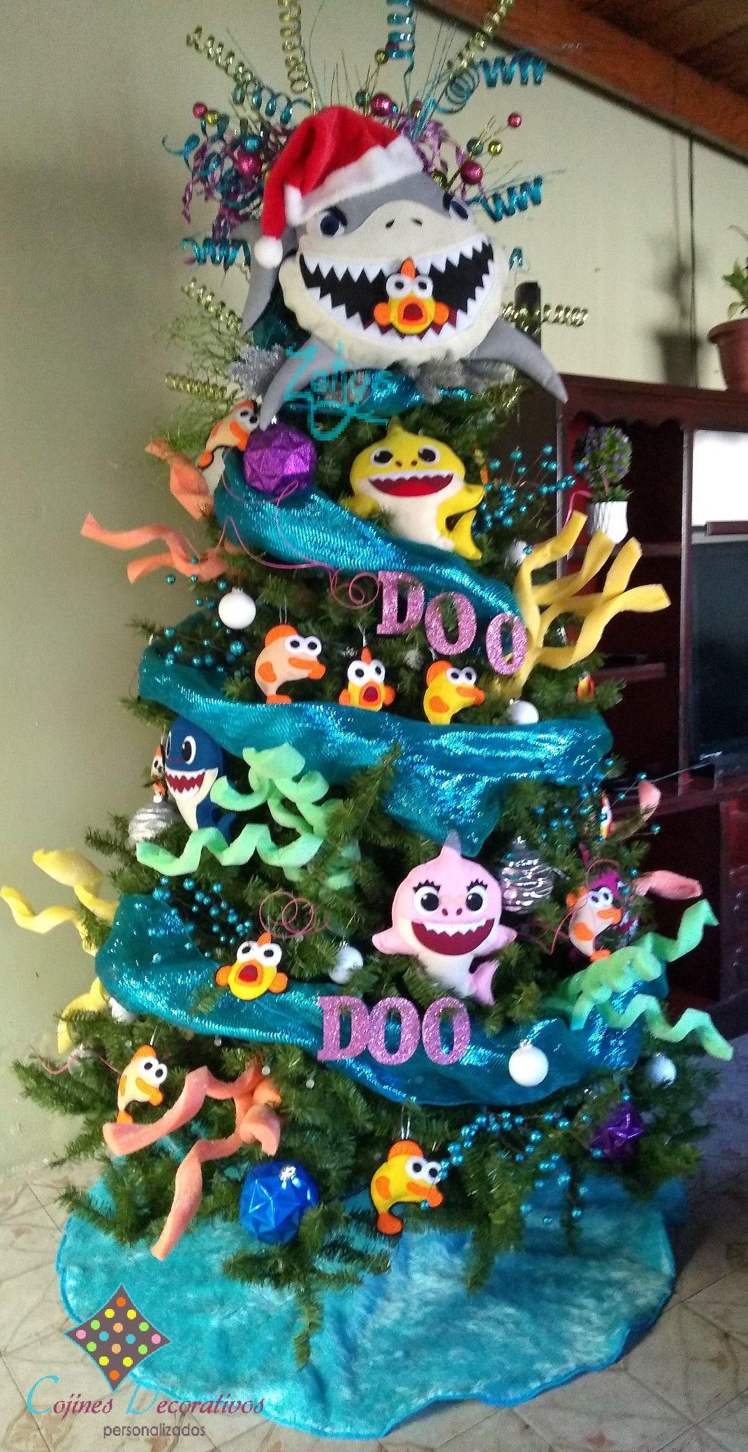 Baby Shark Christmas : shark, christmas, Christmas, Shark, Thematische, Weihnachtsbäume,, Einzigartige, Kreative, Weihnachtsbäume
