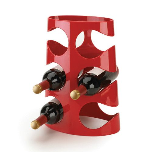 Amazing New Contemporary Modern Umbra Red Acrylic 6 Bottle Wine Rack Pictures Gallery