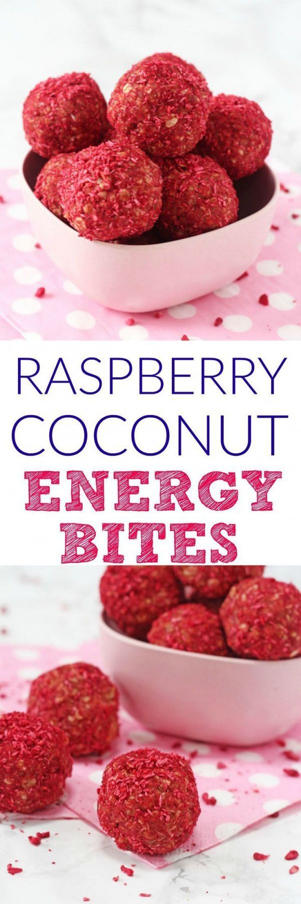 Delicious and healthy energy bites packed full of oats peanut butter freeze dried raspberries and shredded coconut. A tasty and nutritious snack that adults and kids will love! #freezedriedraspberries Delicious and healthy energy bites packed full of oats peanut butter freeze dried raspberries and shredded coconut. A tasty and nutritious snack that adults and kids will love! #freezedriedraspberries Delicious and healthy energy bites packed full of oats peanut butter freeze dried raspberries and #freezedriedraspberries