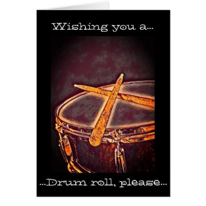 Rockin Drummer Birthday Card Drum Music Greeting