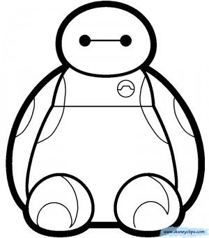 How To Draw Baymax Big Hero 6 Coloring