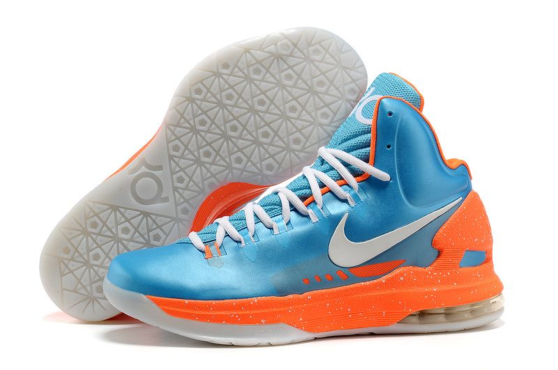 ce1a435e075 Buy Discount Nike Zoom KD 5 V Blue Orange White Basketball Shoes Fashion  Shoes Shop