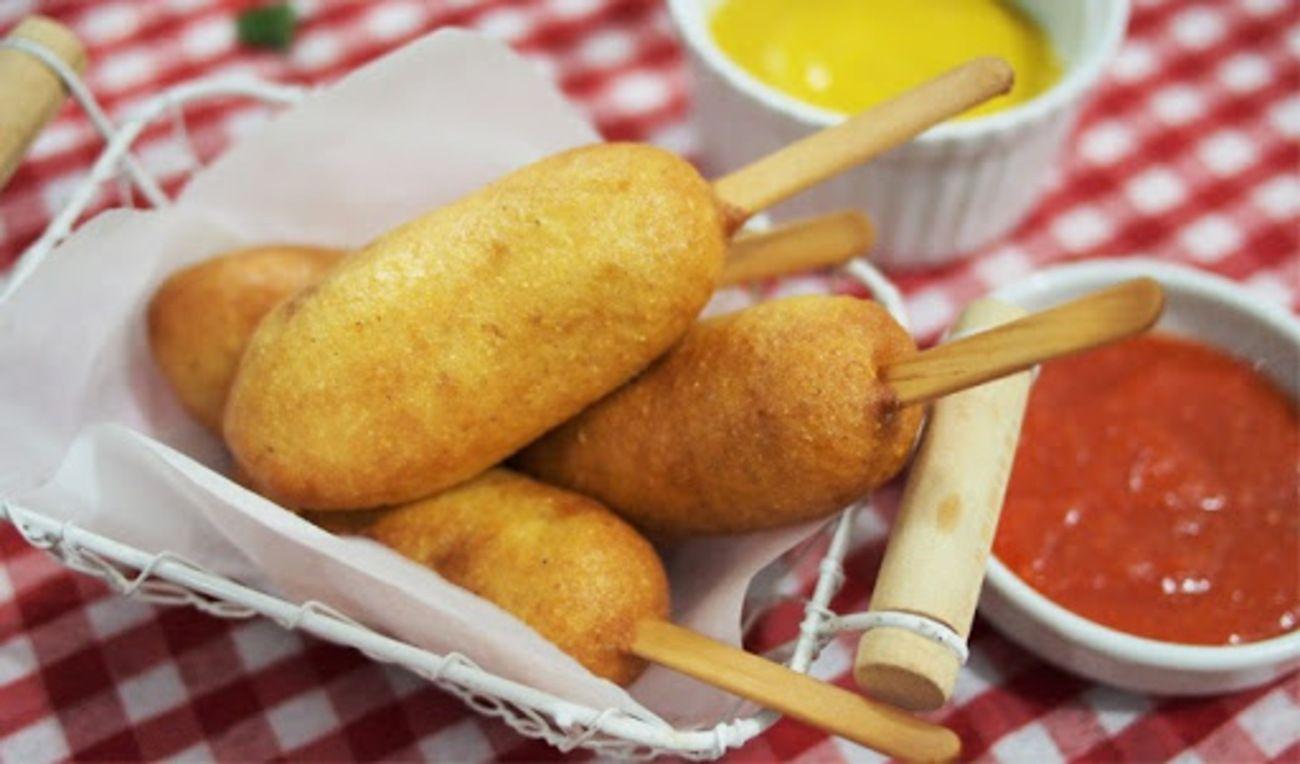 Corn Dog Mozzarella Camilan Para Drakor Resep Corn Dogs Camilan Makanan