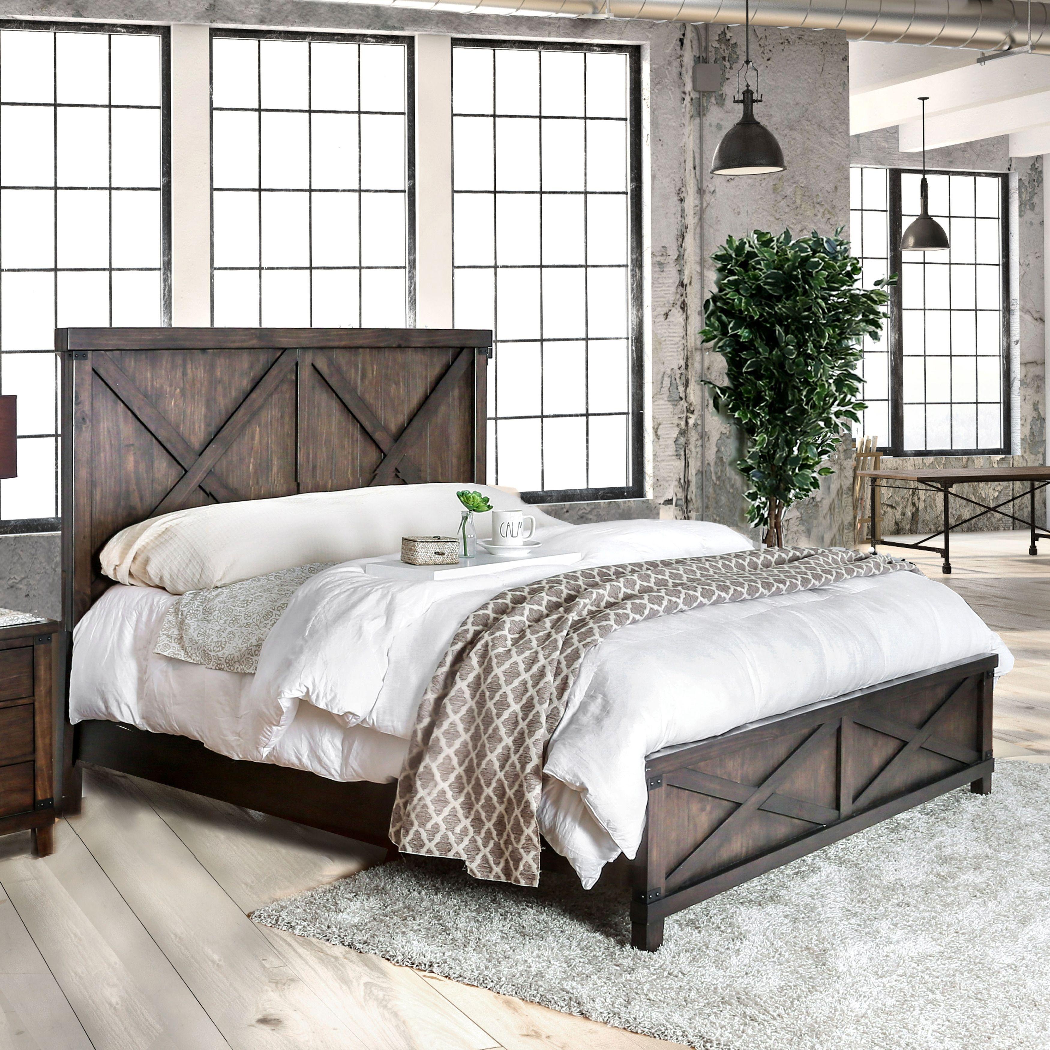 The Gray Barn Epona Rustic 2 Piece Dark Walnut Bed And Nightstand