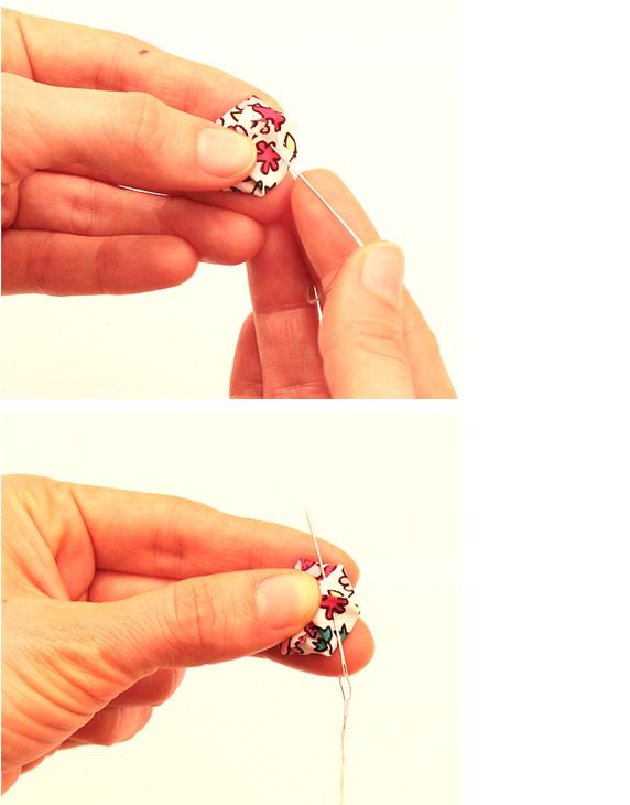 How to make your own covered button step by step tutorial #DIY #sewing