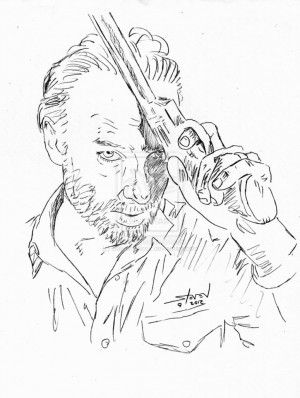 The Walking Dead Rick Coloring Sheets