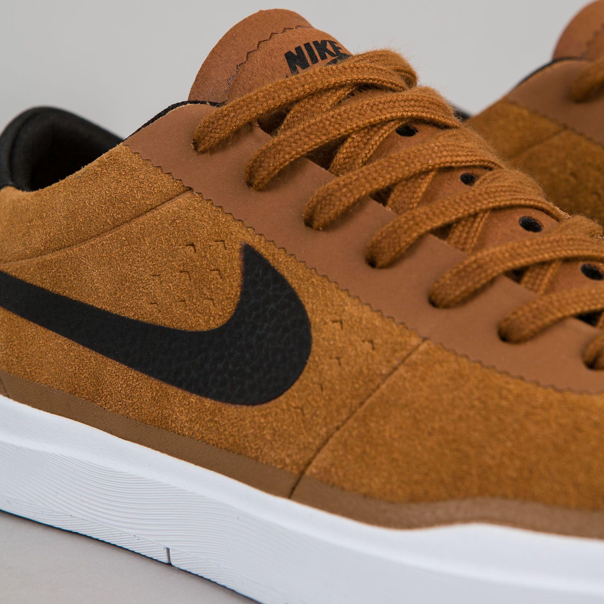 Nike SB Bruin Hyperfeel Shoes - Hazelnut / Black - White