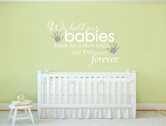 Baby Wall Sticker Quote For Nursery Decal