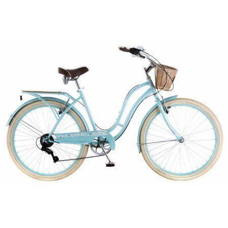 Schwinn Cabo Cruiser Bike 26 Inch Wheels Vintage Style Womens Frame Blue Walmart Com Cruiser Bike Schwinn Womens Bike