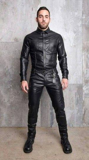 86ac8b5e53a8 Mode Homme, Pantalon En Cuir Pour Hommes, Du Cuir Et Des Hommes, Lederhose