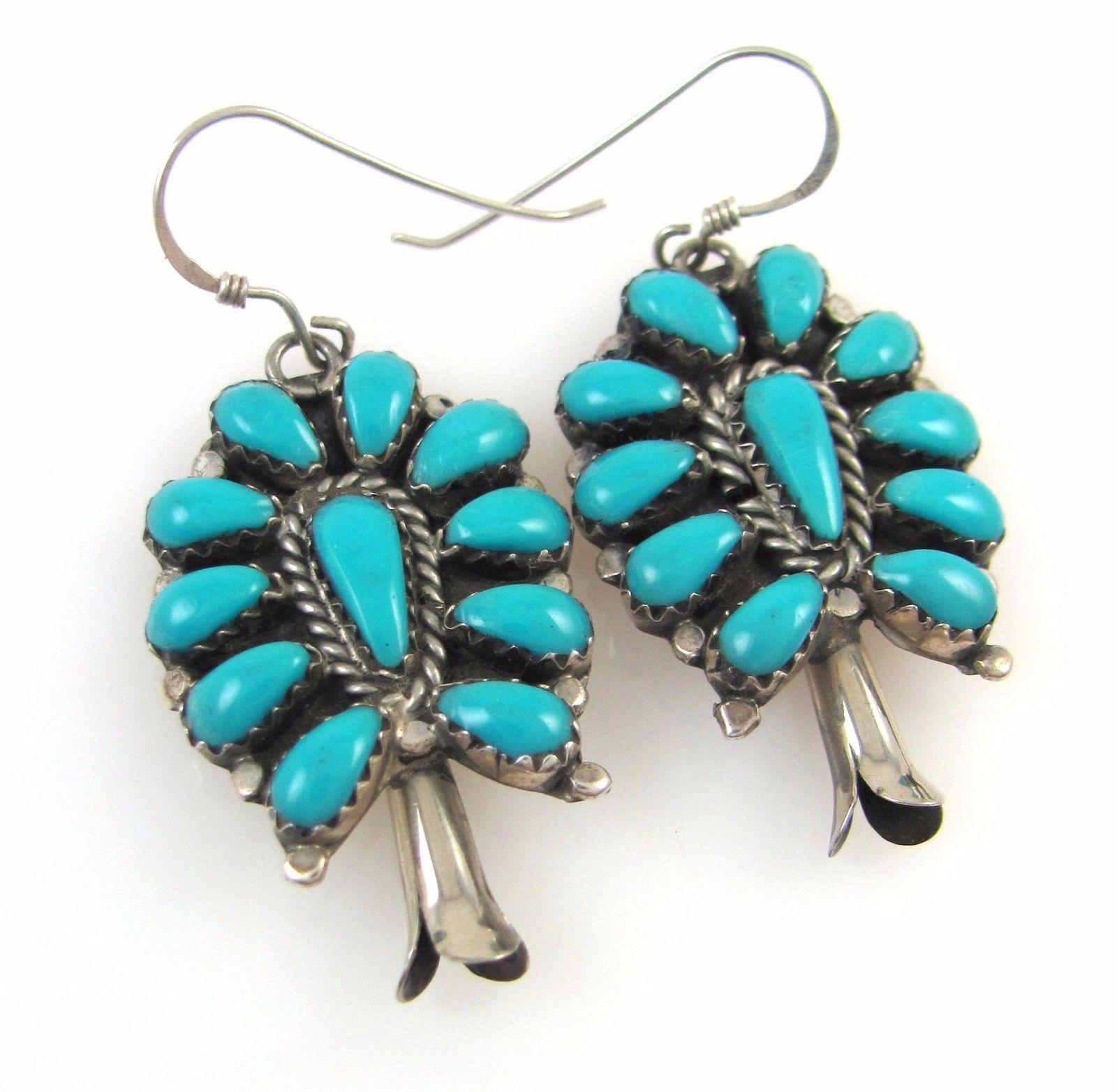 Vintage Navajo Sterling Silver Petit Point Turquoise Squash Blossom Earrings J R https://t.co/Zp6TQt4Ecp https://t.co/oqeV8Has9m