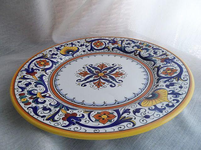U Grazia Deruta Italian Pottery Deruta Decorative Plates