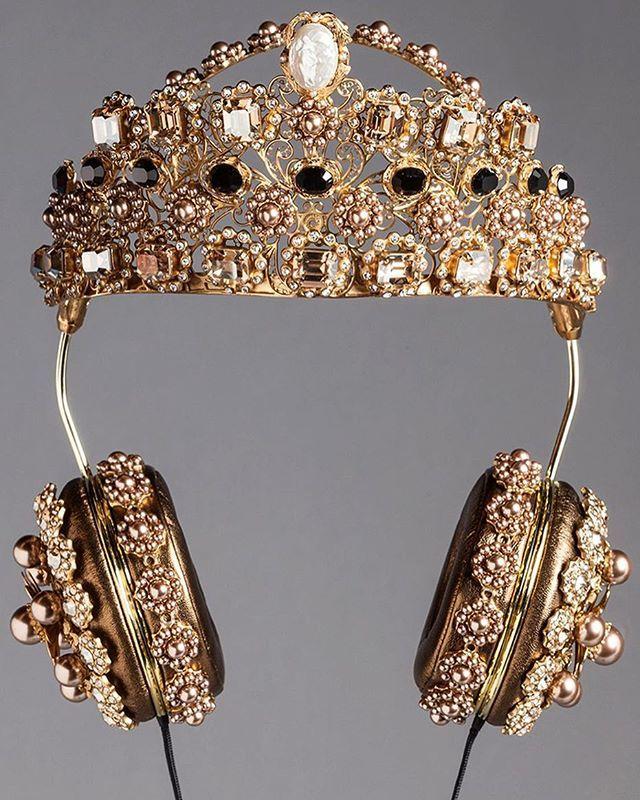 82d9bfc39c60 Dolce  amp  Gabbana Headphones ✨🌟 via  fashionactive Crown Headphones
