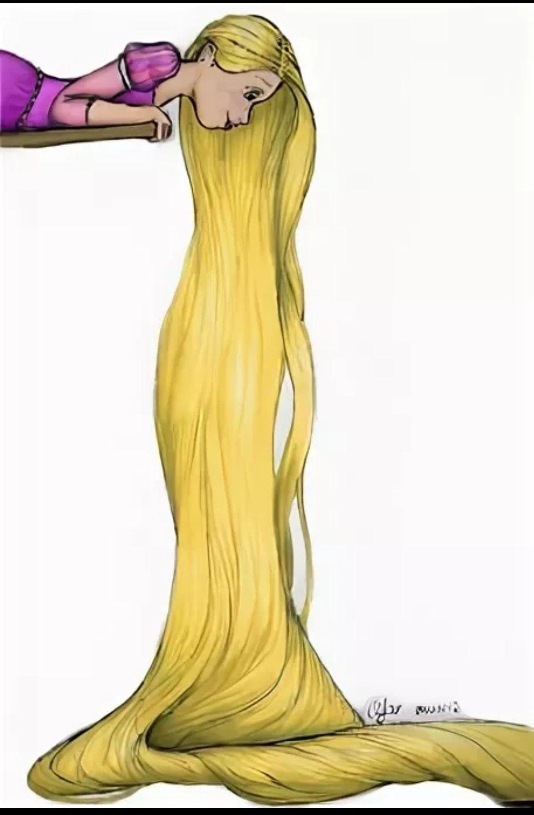 рапунцель связывает волосами картинка горячей иголкой