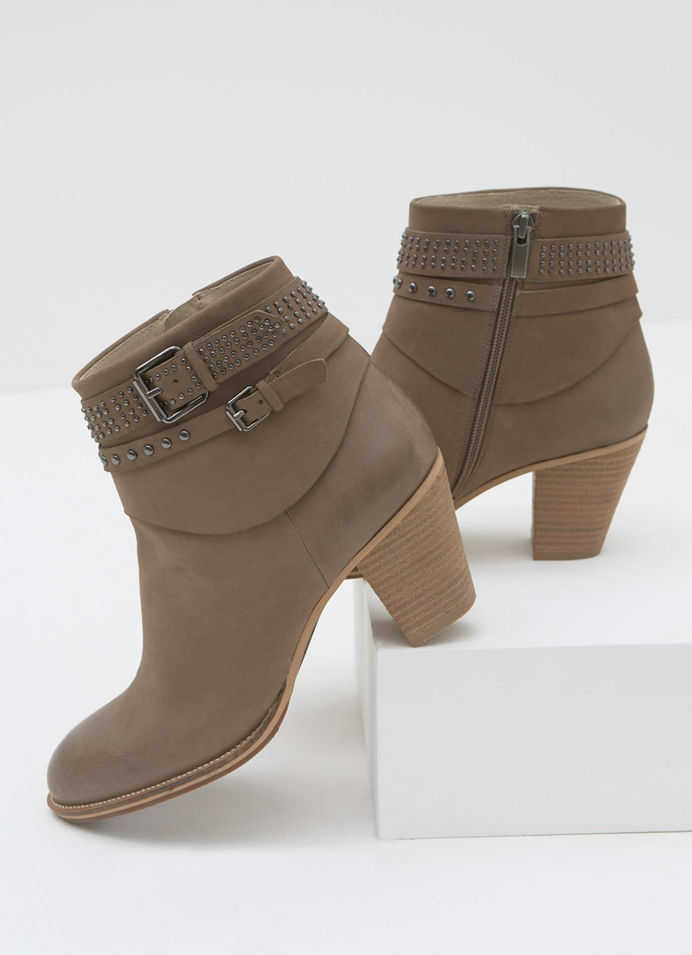 d43391dc7ea Peyton Taupe Nubuck Ankle Boot