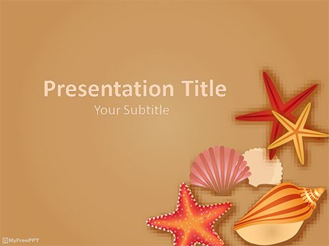 Free sea shells powerpoint template powerpoints pinterest free sea shells powerpoint template toneelgroepblik Images