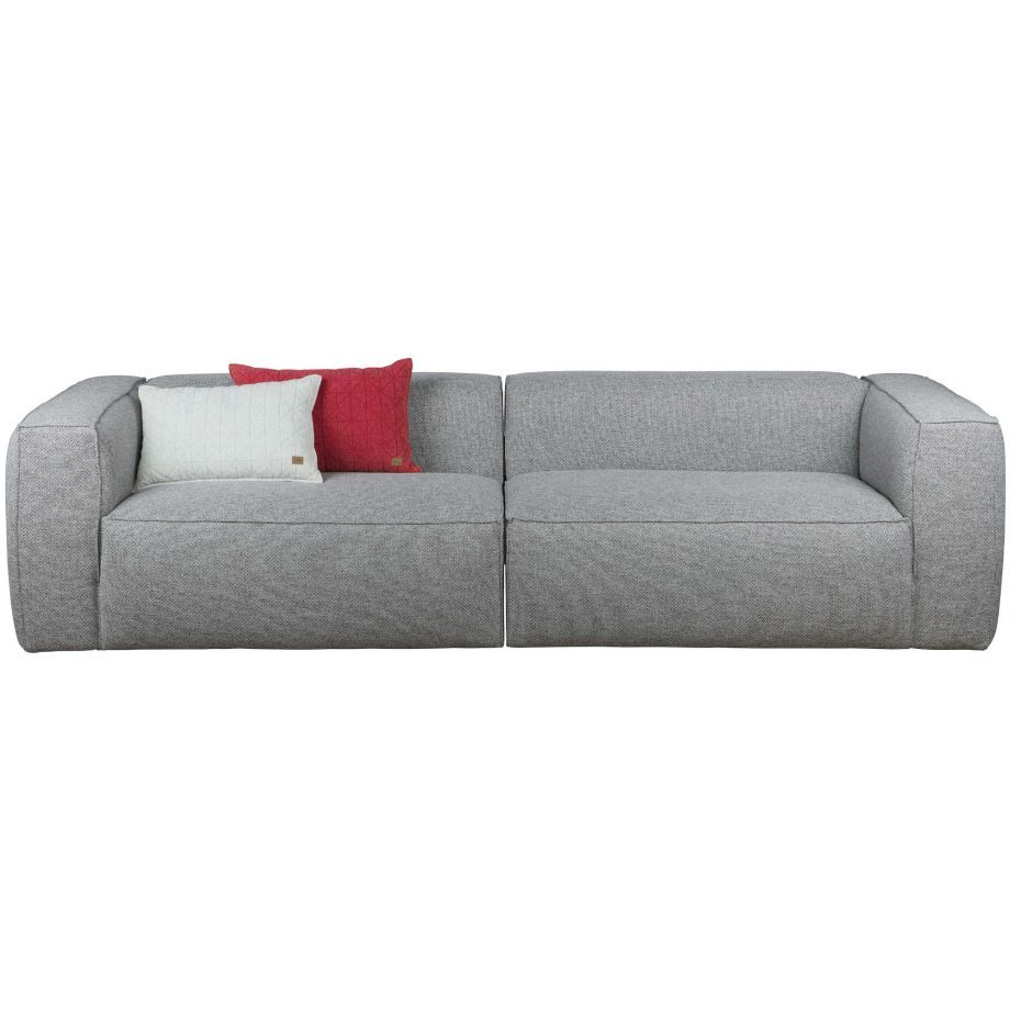 Woood Bean Sofa 4 Sitzer Grau Melange Retro Sofa Bean Sofa Sofa