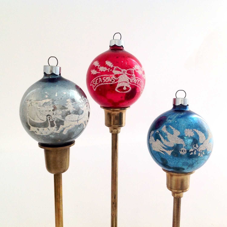 Vintage Christmas Ornaments Antique Ornaments Silhouette Etsy Vintage Christmas Ornaments Christmas Ornaments Mercury Glass Christmas Ornaments