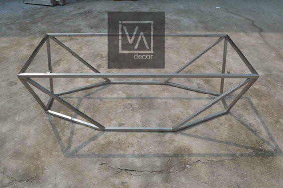 Rectangular Coffee Table Base, Hexagon Table Base, Metal ...