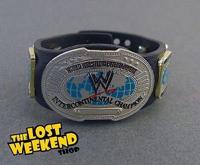 WWE MATTEL ELITE WHITE STRAP INTERCONTINENTAL CHAMPIONSHIP WRESTLING BELT WWF