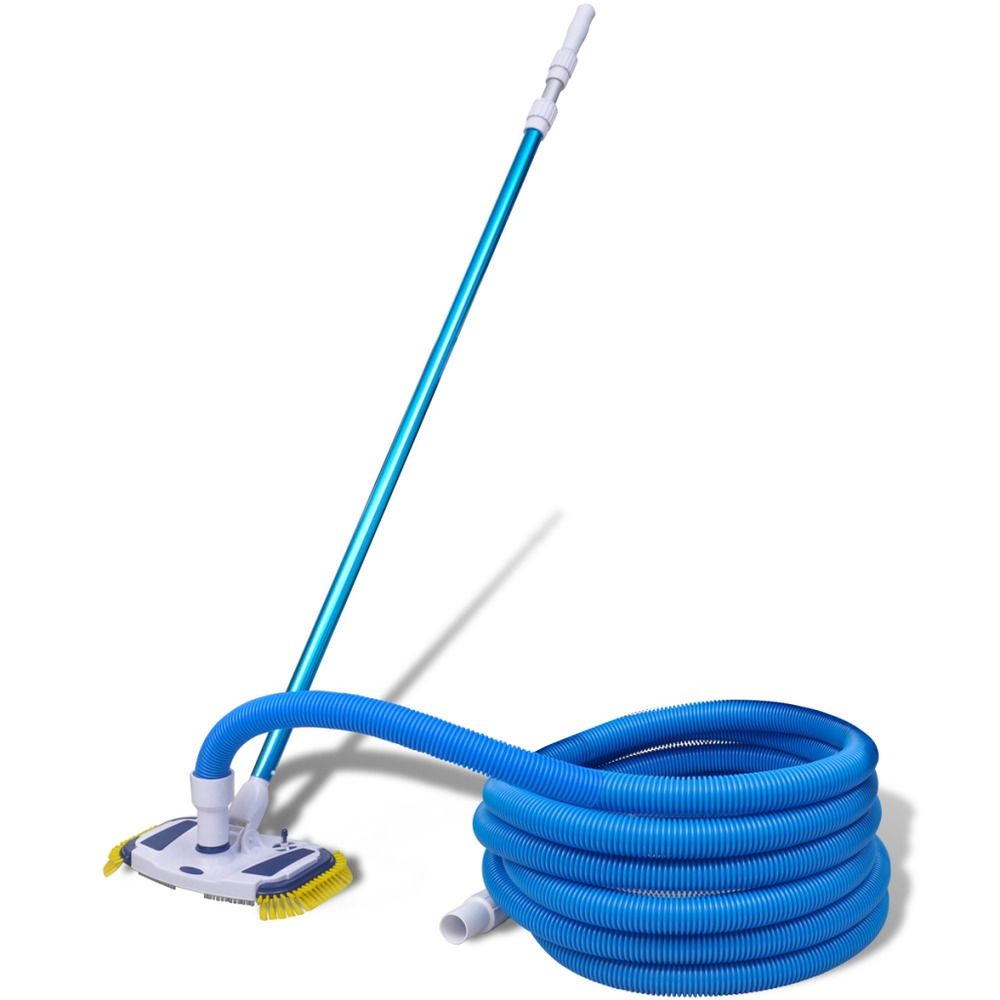 In Ground Pool Vacuum Cleaner Set Swimming Above Patio