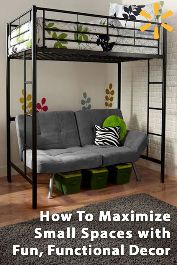 Maximize Small Spaces With Fun And Functional Decor From Walmart Minimize Clutter With Storage