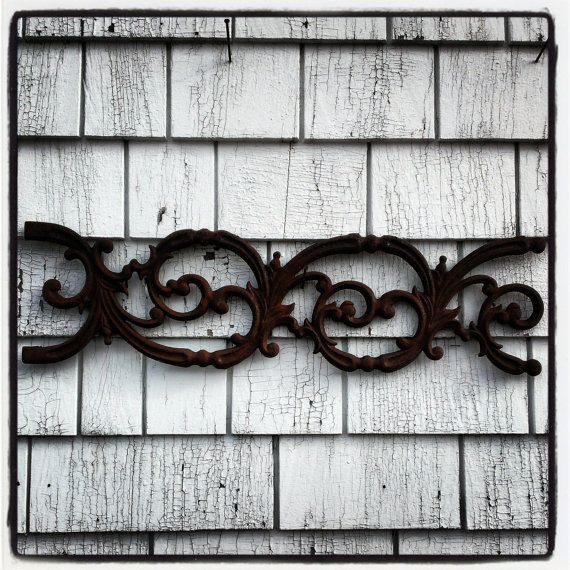 Rusty Antique New Orleans Cast Iron Panels by OldHouseChic on Etsy, $35.00