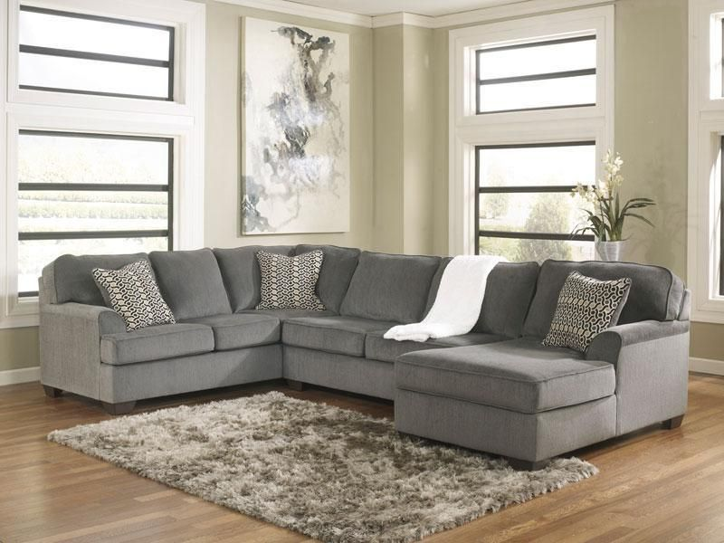 Details about SOLE-Oversized Modern Gray Fabric Sofa Couch Sectional Set  Living Room Furniture - Details About SOLE-Oversized Modern Gray Fabric Sofa Couch