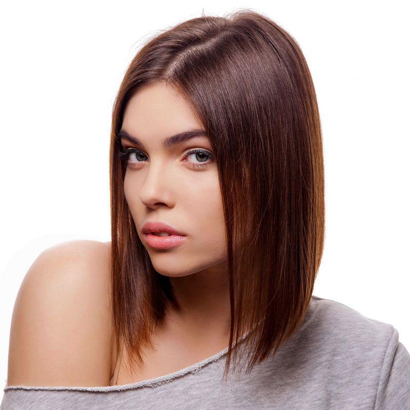 Braune kurze haare
