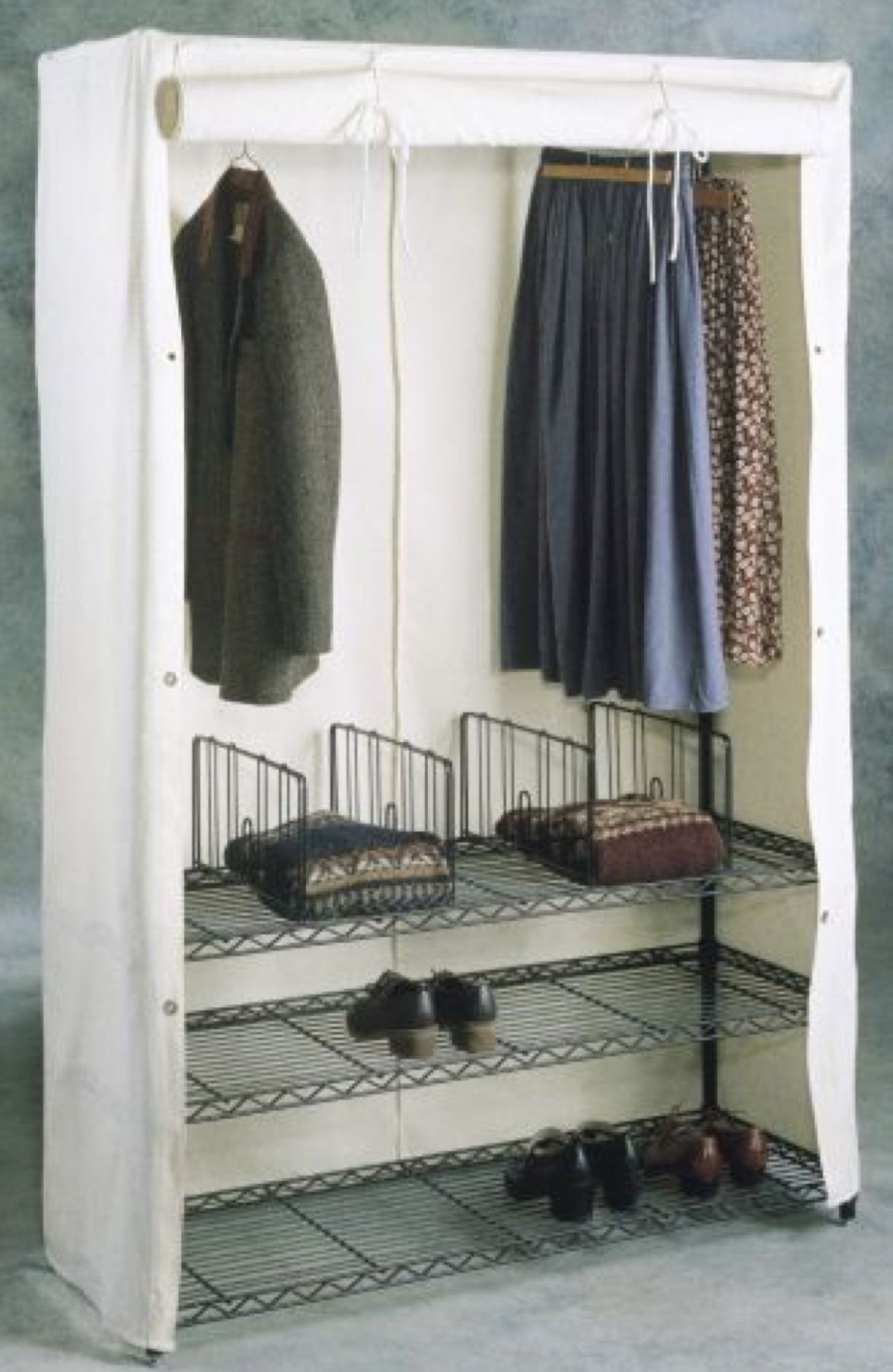 Deluxe Garment Rack With Cover Is Available In Stationary And