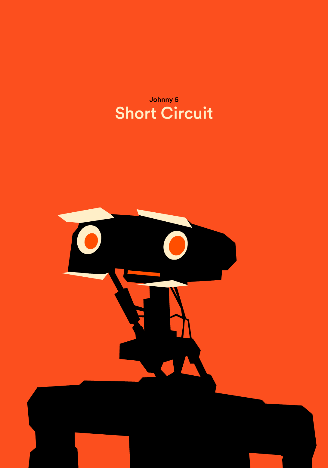 Short Circuit By Hexagonall Studio Movie Posters In 2018 Shortcircuit2 2 Film Number 5 Robot