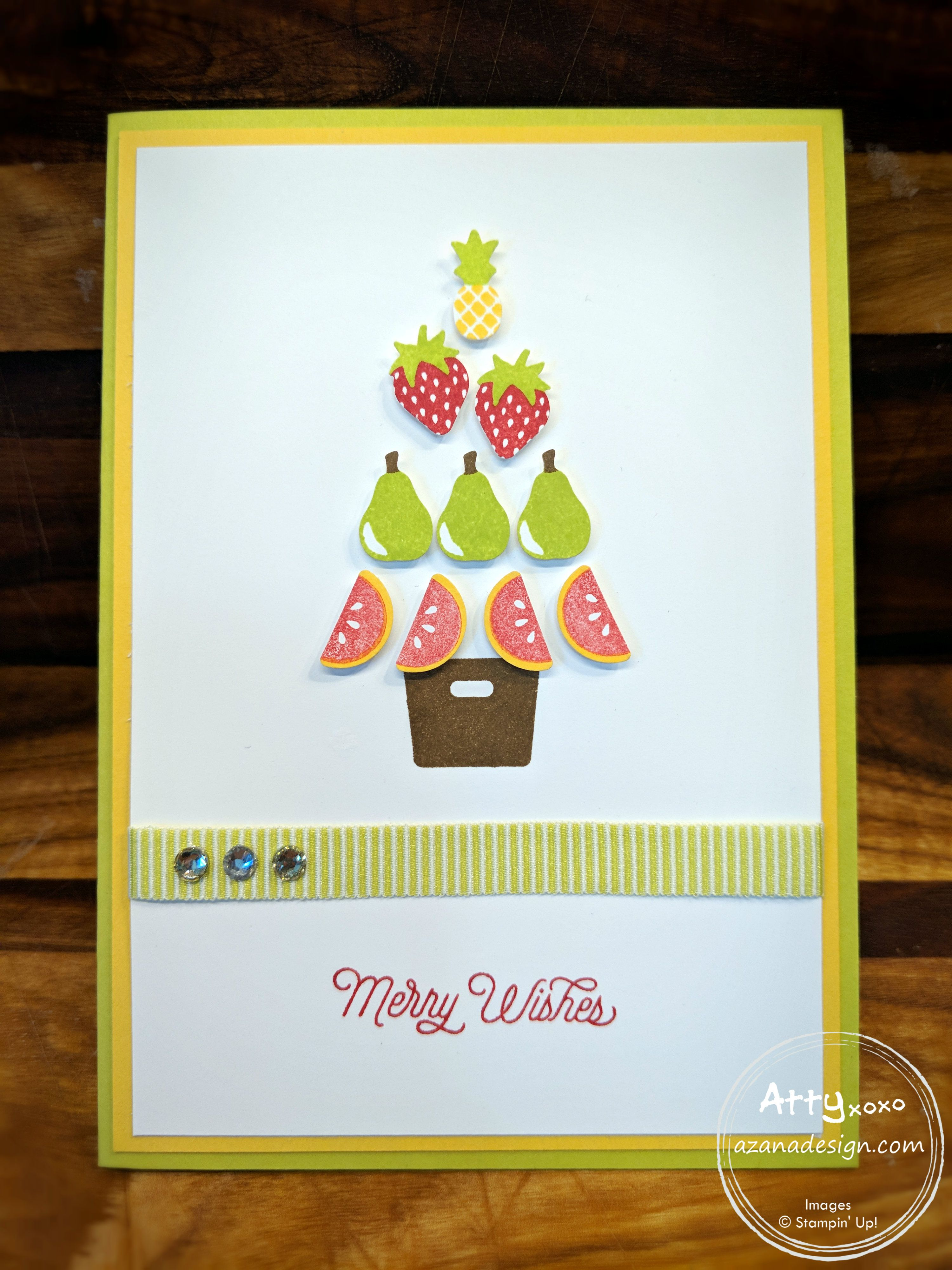 Christmas Fruit Tree Tutti Frutti Christmas - Astrid Bealing Independent Stampin
