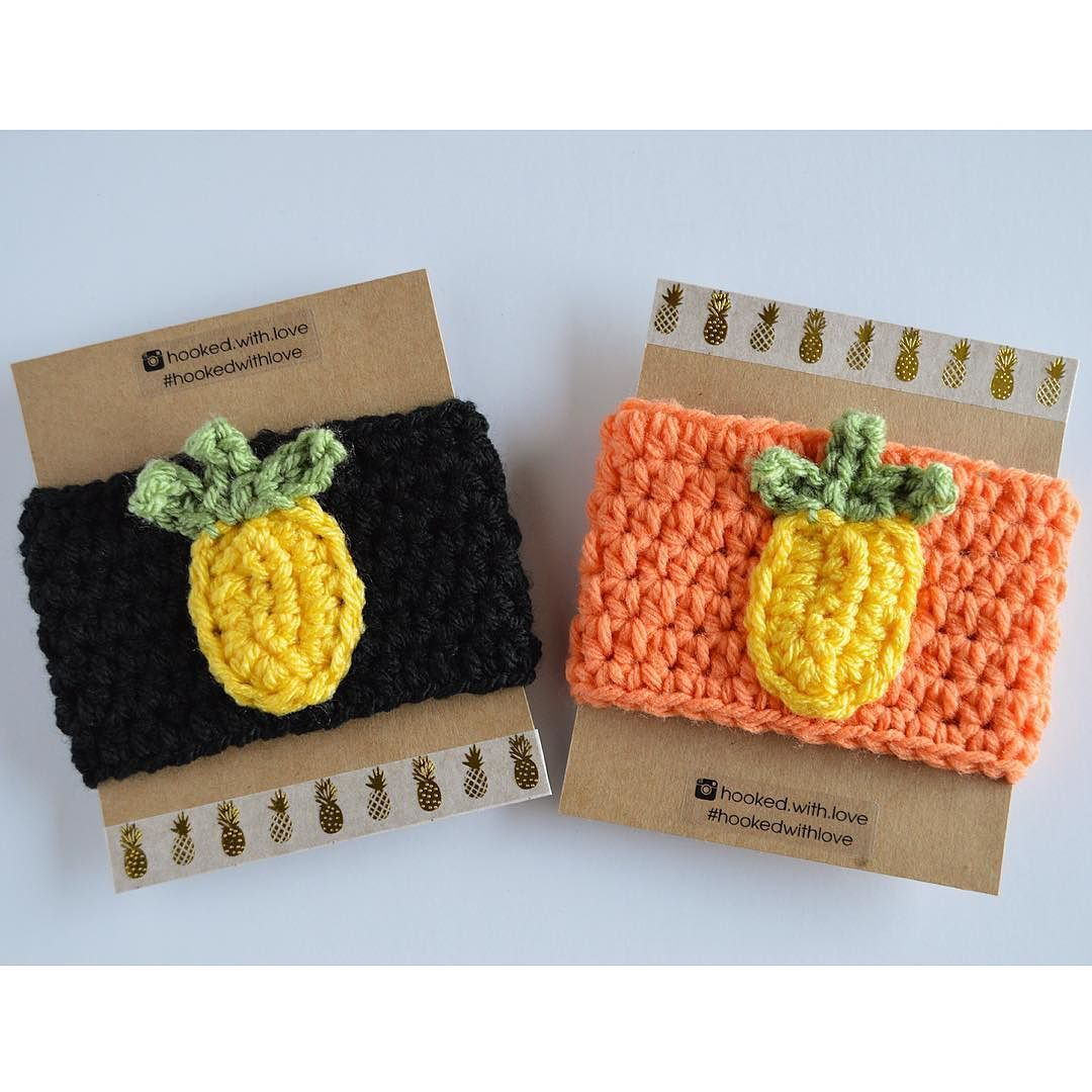 New pineapple drink cozy added to my Etsy by hooked.with.love