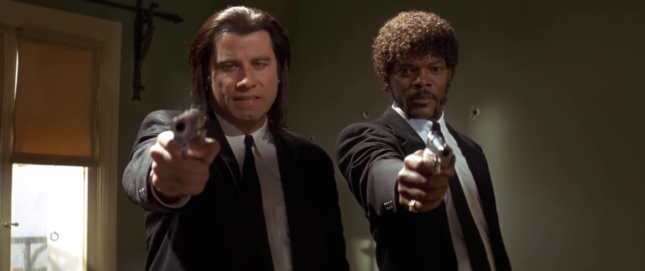 Movies Frames Pulp Fiction 1994 Directed By Quentin Tarantino Iconic Movies Pulp Fiction Funny Video Clips