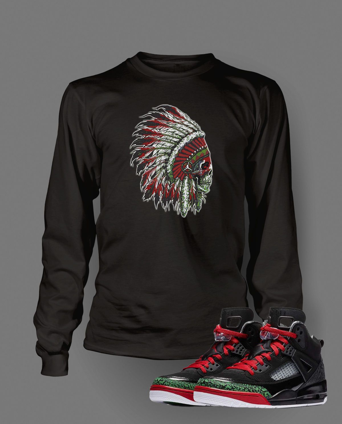 930e49b412dd Chieftain Graphic T Shirt to Match Retro Air Jordan Spizike Shoe in ...