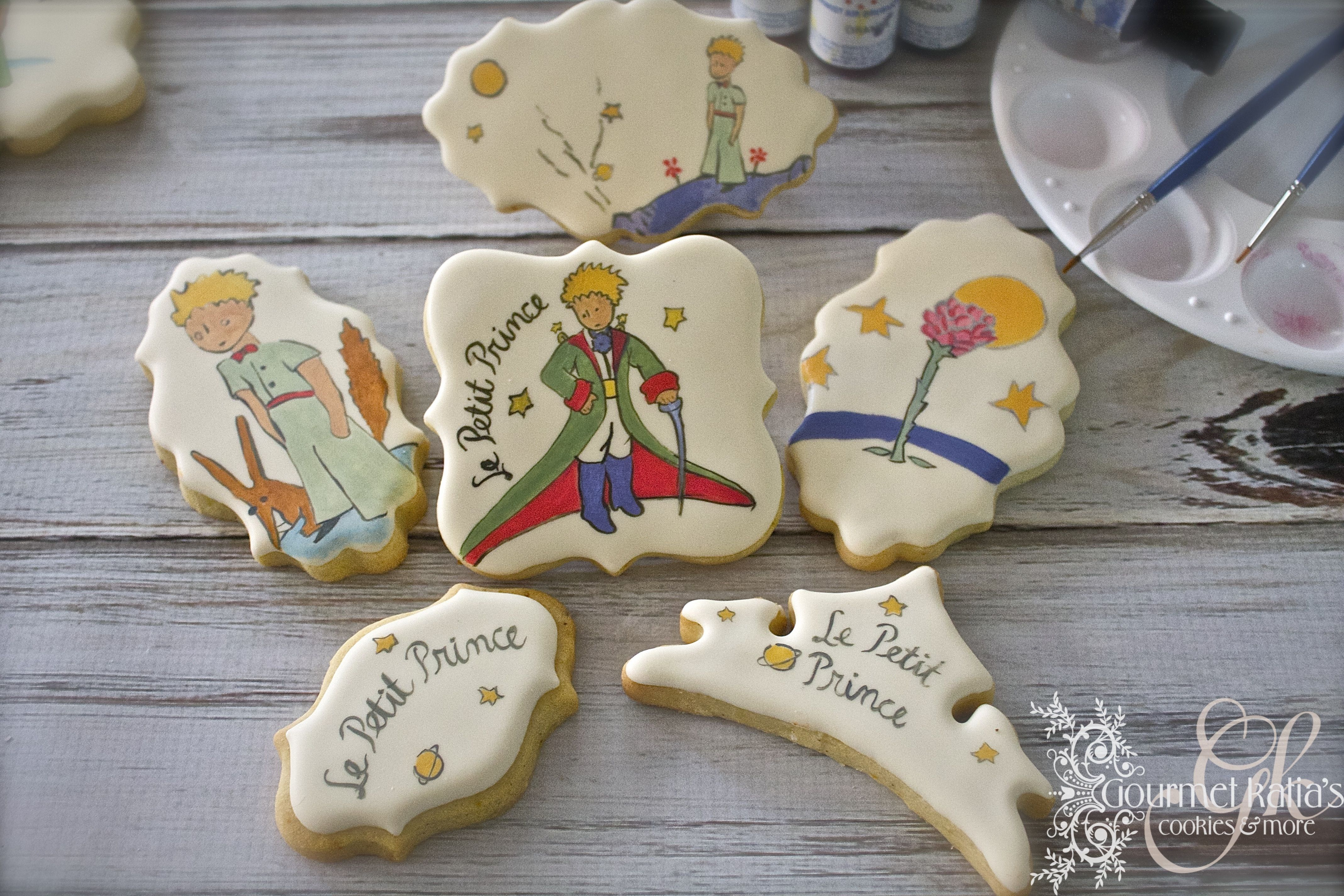 Le petite prince hand painted cookies