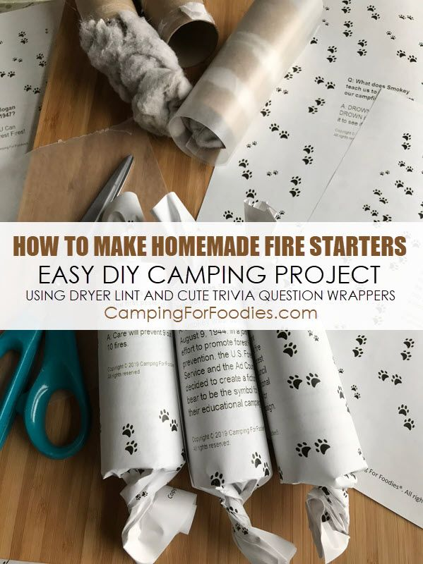 Photo of How To Make Homemade Fire Starters Using Dryer Lint Easy DIY Camping Project